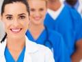 group of modern smart medical team closeup